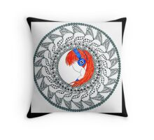 Anime mandala Throw Pillow