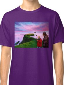 Lighthouse at Mykines Faroe Islands Painting Classic T-Shirt