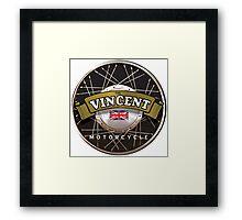 The Vincent Motorcycle England Framed Print
