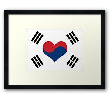Korean Flag Heart Framed Print