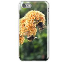 Yellow buddleia and bumble bees iPhone Case/Skin