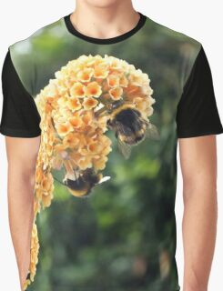 Yellow buddleia and bumble bees Graphic T-Shirt