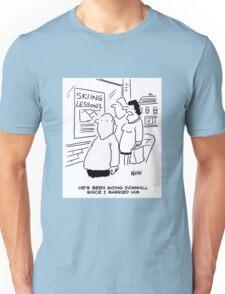 Doing the men's downhill Unisex T-Shirt