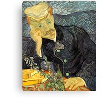 Portrait of Dr. Gachet by Vincent Van Gogh Canvas Print