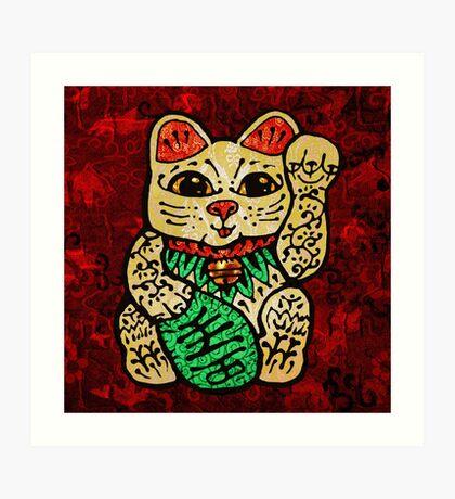 'Shiny Lucky Cat' Art Print