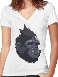 Baby Winston Women's Fitted V-Neck T-Shirt
