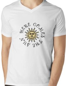 Here Comes The Sun The Beatles Song Lyrics Quotes Mens V-Neck T-Shirt