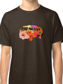 VW Van Hippie Peace Woodstock Cute Flowers Classic T-Shirt