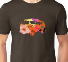 VW Van Hippie Peace Woodstock Cute Flowers Unisex T-Shirt