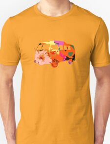 VW Van Hippie Peace Woodstock Cute Flowers Unisex T-Shirt