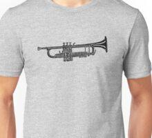 Happy jazz trumpet sketch Unisex T-Shirt