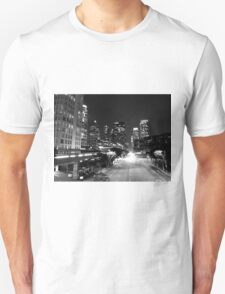 Black And White Cityscape 15  T-Shirt
