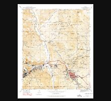 USGS TOPO Map Arizona AZ Globe 311497 1945 24000 Unisex T-Shirt