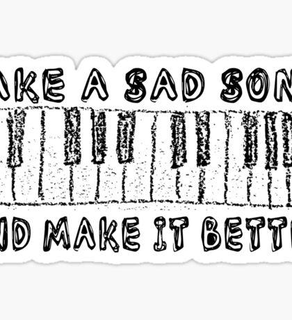 The Beatles Song Lyrics Hey Jude Inspirational Sticker