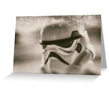 Lego storm trooper vintage Greeting Card
