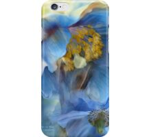 Poppies So Blue iPhone Case/Skin