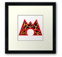 Team Magma Logo (Pokemon) Framed Print