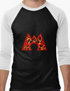 Team Magma Logo (Pokemon) Men's Baseball ¾ T-Shirt