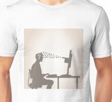 Computer and the person Unisex T-Shirt