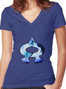 Team Aqua Logo (Pokemon) Women's Fitted V-Neck T-Shirt