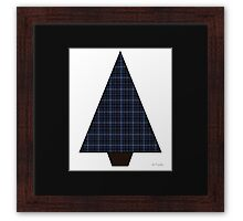 Tartan Christmas Tree - Blue World Framed Print