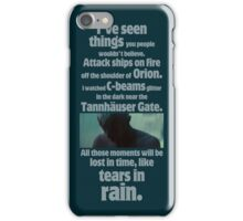 like tears in rain - blade runner quote  iPhone Case/Skin
