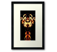 giraffe man Framed Print