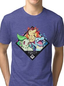 Johto Region - Pokemon Tri-blend T-Shirt