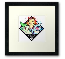 Johto Region - Pokemon Framed Print
