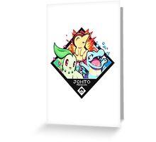 Johto Region - Pokemon Greeting Card