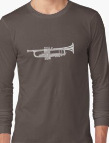 Happy jazz trumpet sketch Long Sleeve T-Shirt