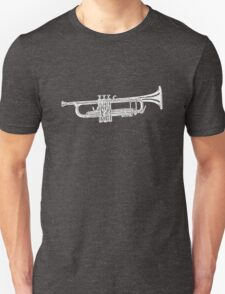 Happy jazz trumpet sketch Unisex T-Shirt
