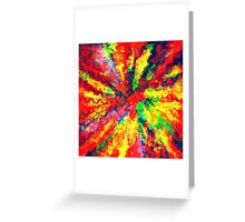 Psychedelic Art School Acrylic Paint Canvas Greeting Card