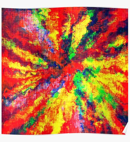 Psychedelic Art School Acrylic Paint Canvas Poster