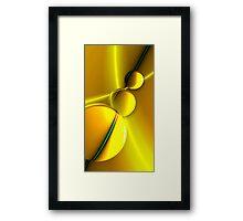 3 suns Framed Print