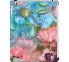 Poppies Peach And Blue iPad Case/Skin
