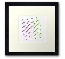 x square Framed Print