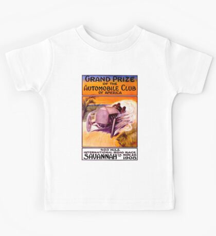 """SAVANNAH GRAND PRIX"" Vintage Auto Racing Print Kids Tee"