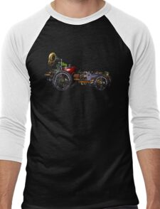 steam powered apple car Men's Baseball ¾ T-Shirt
