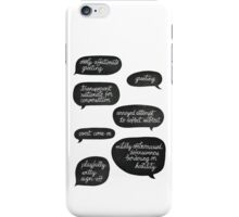 overly affectionate greeting {root & shaw - person of interest} iPhone Case/Skin