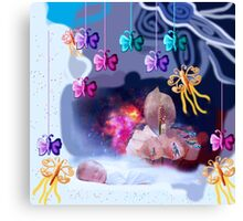 Dream of baby Canvas Print