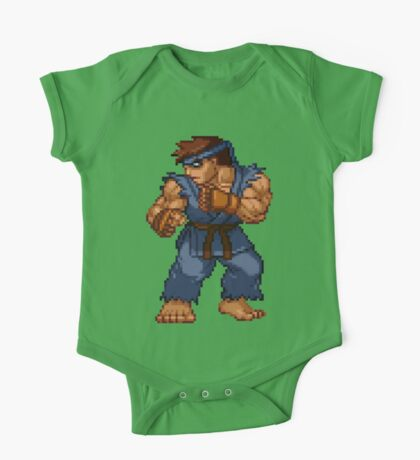 Evil Ryu - Street Fighter Sprite One Piece - Short Sleeve
