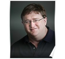 Gabe Newell Steam God Poster