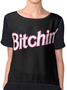 Bitchin' Barbie Typography Chiffon Top
