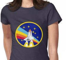 Space Shuttle Rainbow - Vintage Icon Womens Fitted T-Shirt