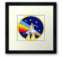 Space Shuttle Rainbow - Vintage Icon Framed Print