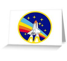 Space Shuttle Rainbow - Vintage Icon Greeting Card