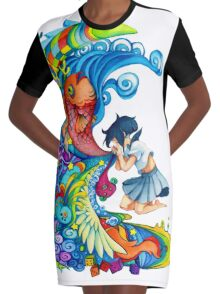 Girl Graphic T-Shirt Dress