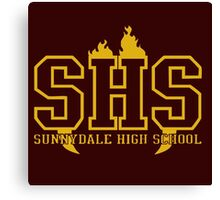 sunnydale high school t shirt Canvas Print