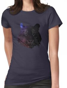 Space Tiger Cool Pretty Hipster Universe Womens Fitted T-Shirt